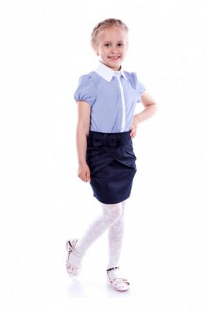 Шкільна синя спідниця тюльпан