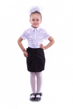 Шкільна чорна спідниця тюльпан