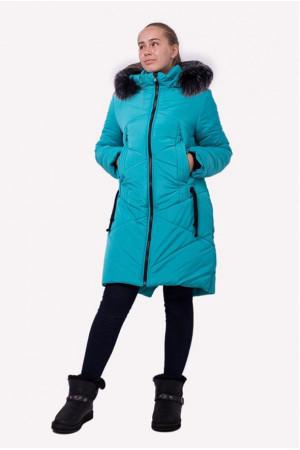 Удлиненная зимняя куртка для девочки