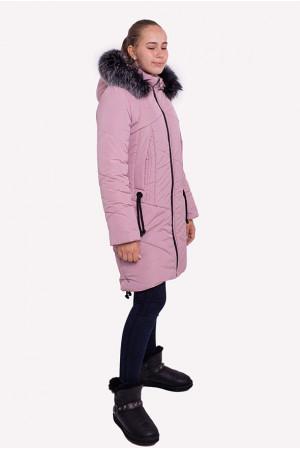Стильная куртка для девочки кремового цвета