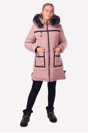 Зимова куртка з штучним хутром і накладними кишенями