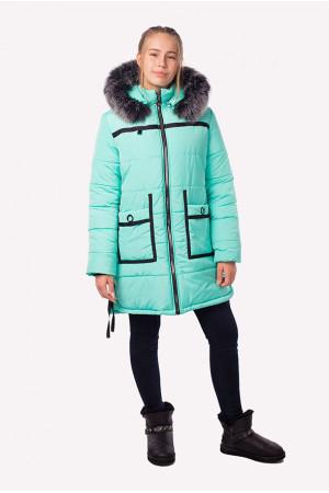 Зимняя куртка для девочки подроста мятного цвета