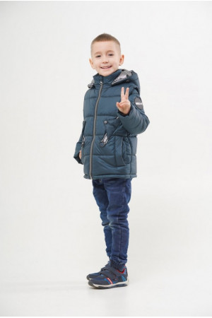 Куртка для мальчика с отстежными рукавами и капюшоном