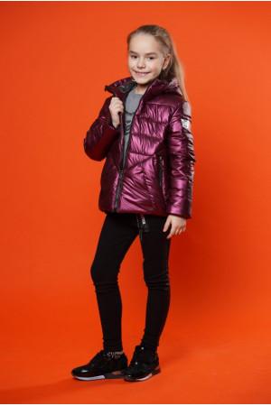 Бордовая демисезонная куртка для девочки