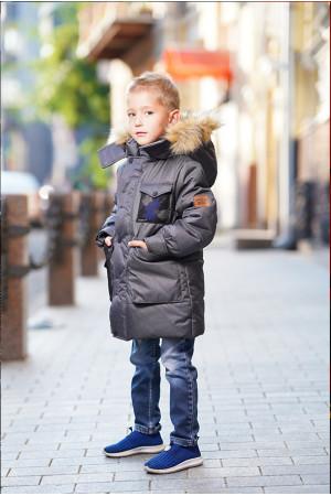 Теплая куртка для мальчика с капюшоном