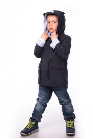 Ветровка для мальчика с декорированным капюшоном