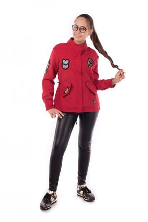 Червона вітровка для дівчинки