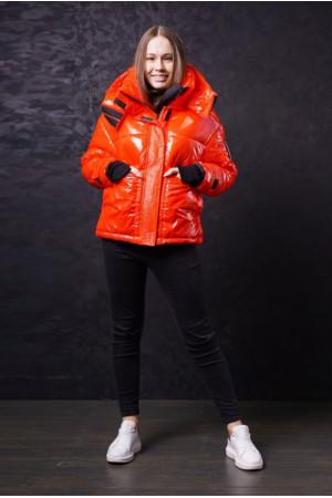 Оранжевая подростковая зимняя куртка