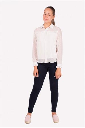 Молочна напівпрозора блузка