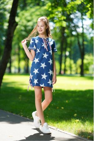 Сукня з принтом із зірок