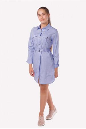 Стильное платье-рубашка с поясом