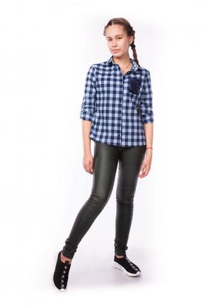 Стильная рубашка в клетку для девочки подростка