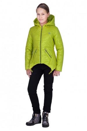 Ассиметричная куртка для девочки (яблоко)