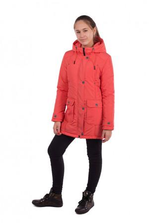 Демисезонная куртка-парка для девочки с накладными карманами