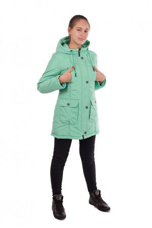 Ментоловая демисезонная куртка для девочки