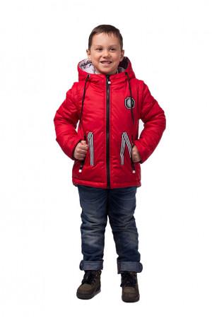 Червона демісезонна куртка-жилет для хлопчика