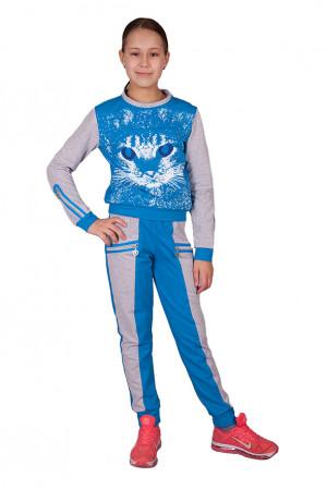 Спортивный костюм для девочки с принтом кошки