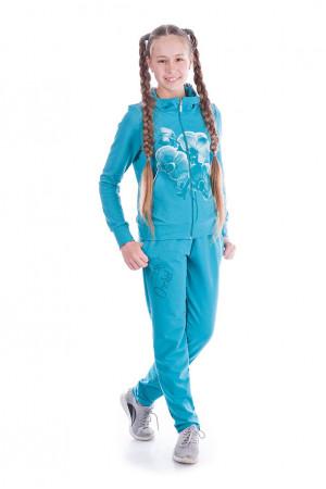 Спортивный костюм для девочки лазурного цвета