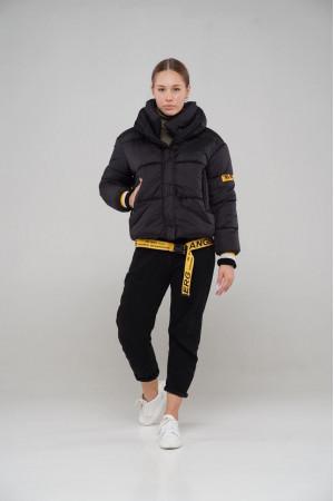 Чорна куртка Oversize Шері