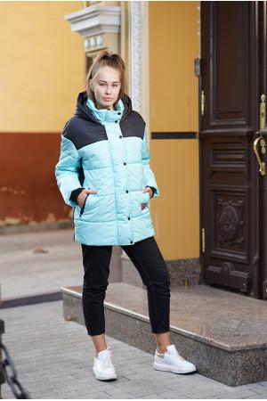 Двухцветная зимняя куртка для девочки