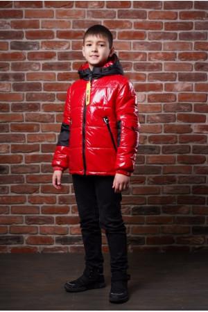 Лакова куртка для хлопчика демісезонна
