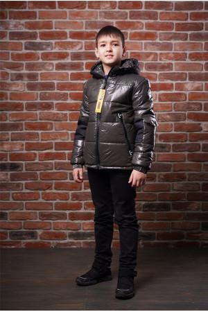 Демисезонная куртка для мальчика цвета хаки