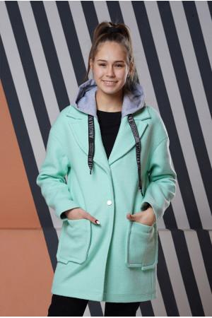 Подростковое мятное пальто Фьюжен