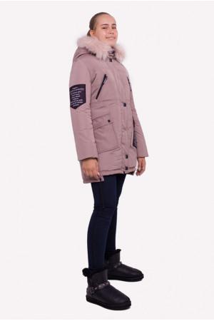 Зимняя куртка со съемным капюшоном