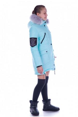 Зимняя куртка с капюшоном небесно-голубого цвета