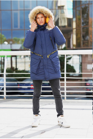 Зимова подовжена куртка для хлопчика