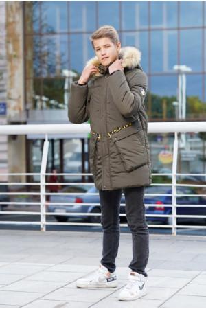 Удлиненная теплая куртка для мальчика подростка