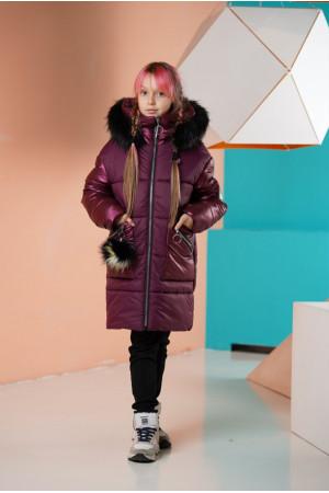 Зимняя куртка с капюшоном для девочки