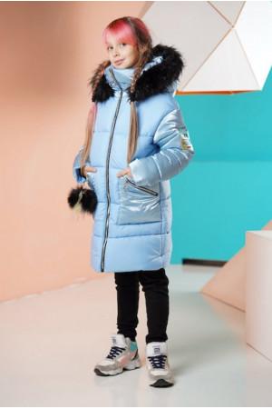 Подовжена зимова куртка для дівчинки
