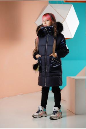 Удлиненная куртка для девочки с капюшоном