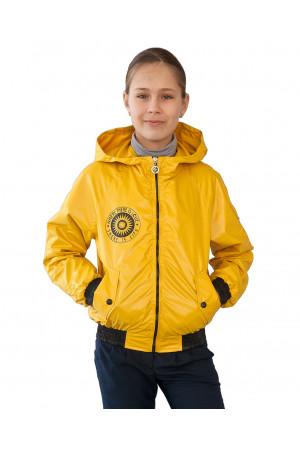 Жовта вітровка для дівчаток
