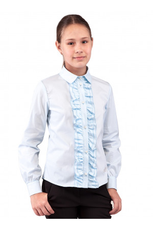 Блакитна шкільна блузка