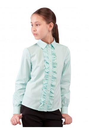 Шкільна блузка м'ятного кольору