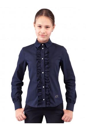 Синя шкільна блузка