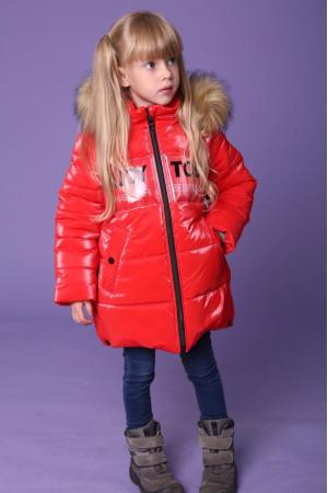 Червона куртка для дівчинки