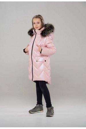 Теплая курточка для девочки с капюшоном