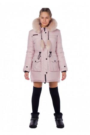 Зимняя курточка на девочку с меховым воротником