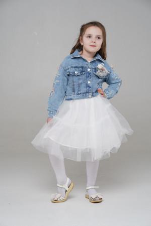 Платье с Джинсовкой Белый