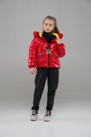 Червона куртка для дівчаток