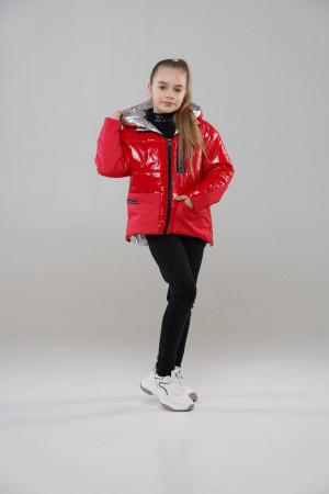 Червона курточка для дівчинки на весну
