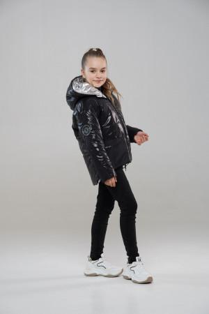 Чорна куртка для дівчаток на весну