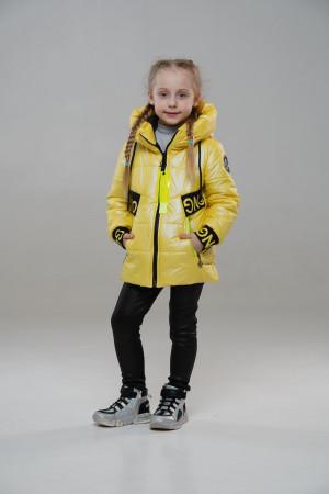 Весняна куртка для дівчинки жовтого кольору
