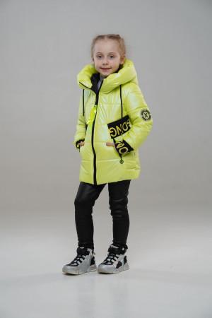 Весняна куртка для дівчинки лимонного кольору