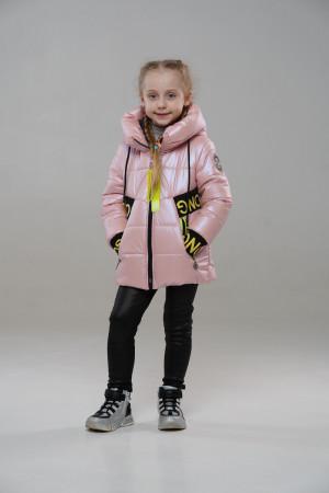 Весняна куртка для дівчинки кольору пудра
