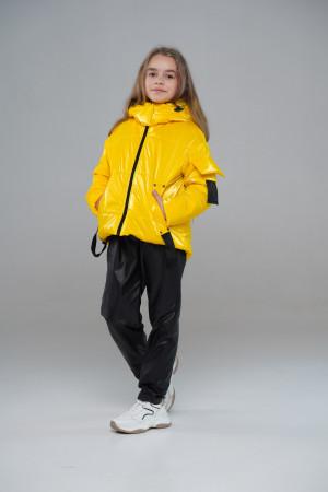 Жовта куртка для дівчаток
