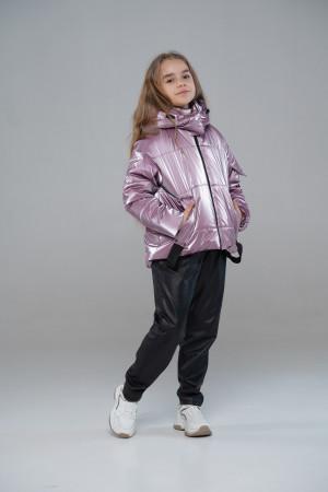 Коротка тепла куртка для дівчинки